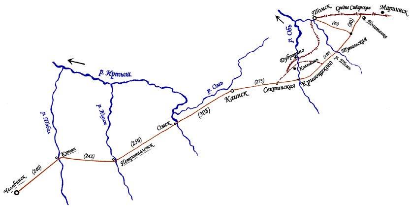 железная дорога схема